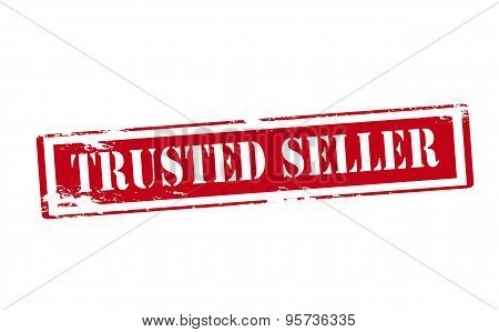 Rubber stamp with text trusted inside vector illustration