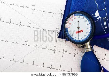 Ekg And Blood Pressure Measurement