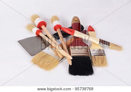 Whitewashing Brush As A Background