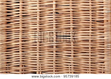 Wicker Panel Background Texture Close-up