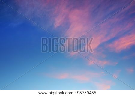 Sunset Cirrus Multicolored Clouds Background