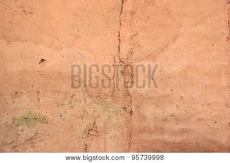 Cracked Peach Plaster Background