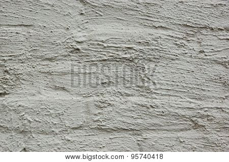 Grey Bumpy Plastered Wall Fragment Background