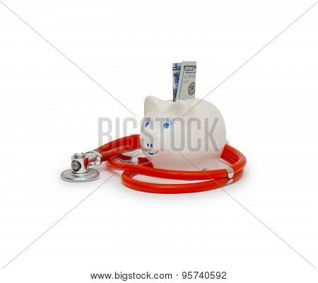 Stethoscope In White Background