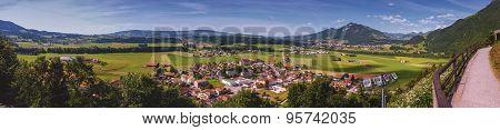 Panoramic view of Gruyeres area, Fribourg, Switzerland