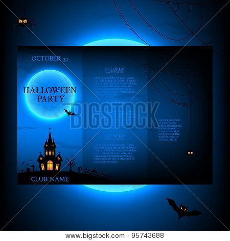 Vector Design Of The Brochure For Halloween