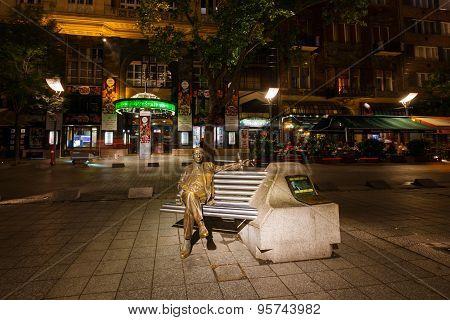 Statue Of Emmerich Kalman In Budapest