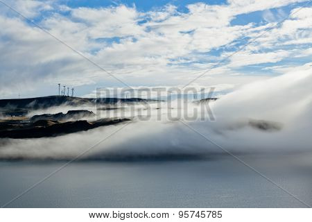 Fog Over Columbia River