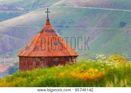 Armenia. Sevanvank. Religious symbol of Christianity.
