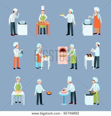 Cook Profession Icons Set