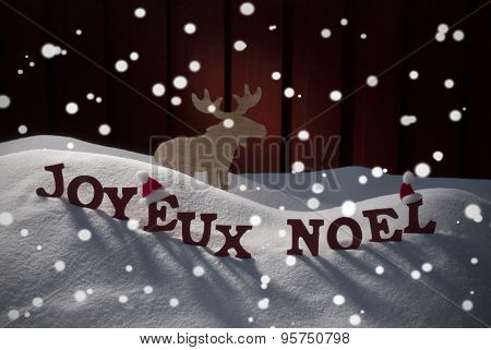 Joyeux Noel Means Merry Christmas With Moose