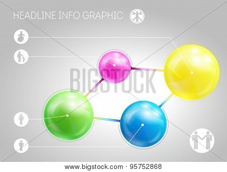 Template Of Page With Four 3D-effect Metaballs