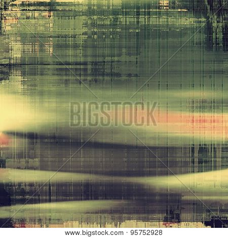 Designed grunge texture or background. With different color patterns: yellow (beige); gray; green; black
