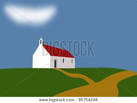 Chapel On A Green Hill