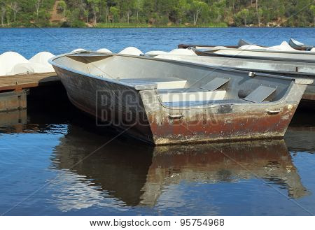 Row Boat at summer camp