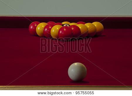 white ball targeting snooker