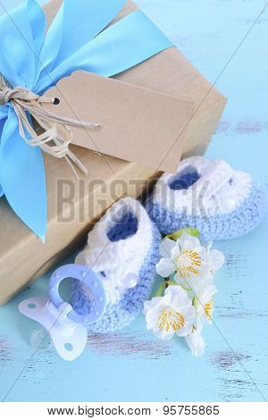 Baby Shower Its A Boy Natural Wrap Gift