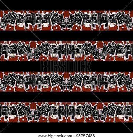Stripe Tribal Geometric Pattern