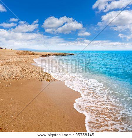 Almeria Mojacar beach in Mediterranean sea of Spain
