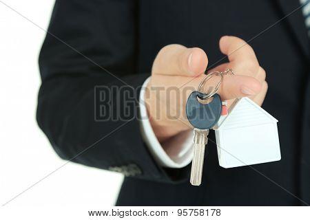 Hand with keys, closeup
