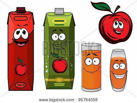 Red apple juice cartoon characters