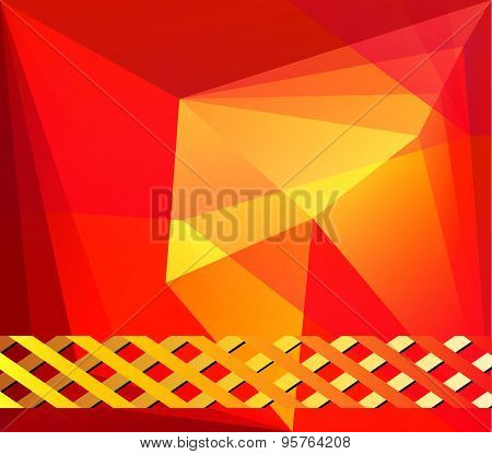 Abstract orange template background design vector
