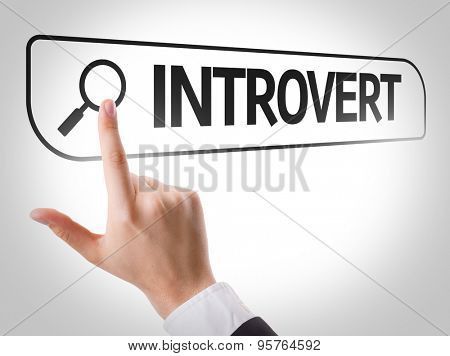 Introvert written in search bar on virtual screen