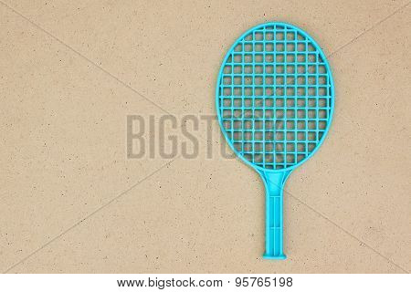 One Tennis Racket On The Table