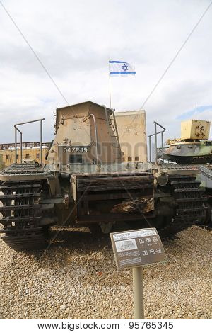 Centurion Beach Armoured Recovery Vehicle on display
