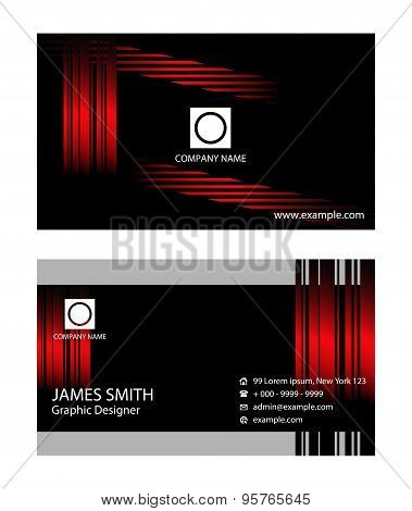 Business card design. Template business cards