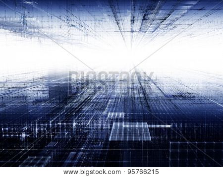 Abstract techno background design. Detailed computer graphics.