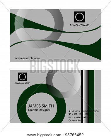 Business card template. Business card templates set