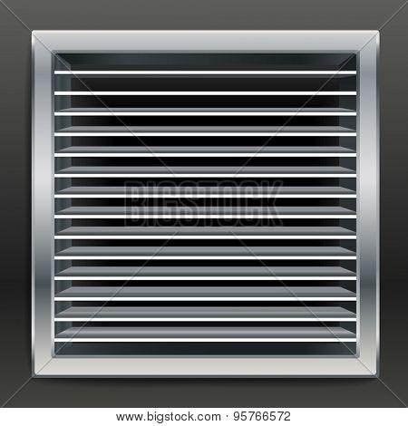 Photorealistic bathroom ventilation window. Raster version