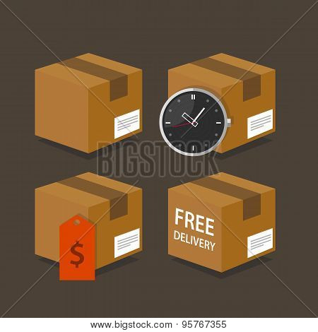 delivery box fast time price free shipping package