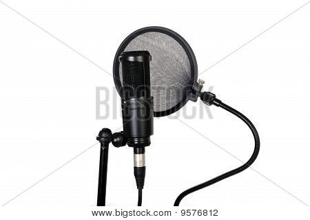 Pop Filter And Studio Mic