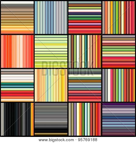 Striped Tube Patterns In Rainbow Color Over Black