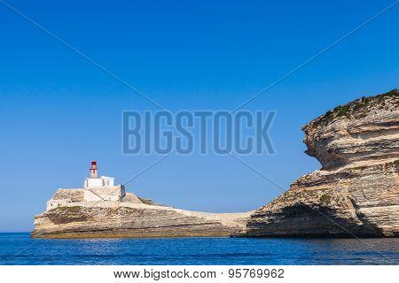Llighthouse. Bonifacio, Corsica Island, France