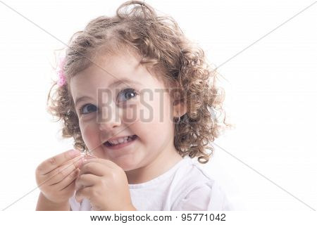 Isolated Smiling Child Portrait
