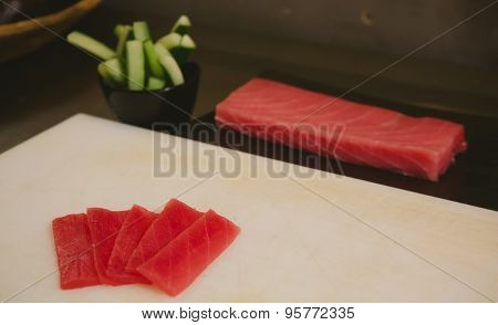 fresh raw sashimi, japanese couisine