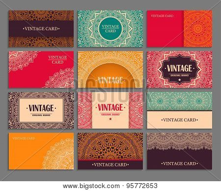 Business card vintage decorative elements ornamental floral business card vintage decorative elements ornamental floral business cards oriental pattern vect reheart Choice Image