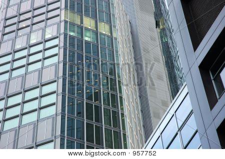 Modern Office Buildings Facade