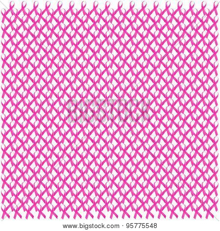 Breast Cancer Awareness Pink Ribbon Seamless Pattern.