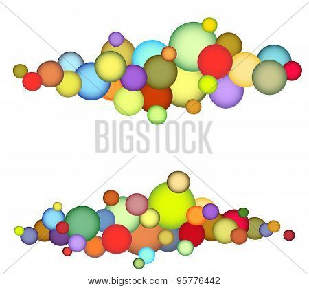 Bubble String Pattern In Multiple Color Over White