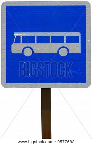 Bus Traffic Sign Isolated On White