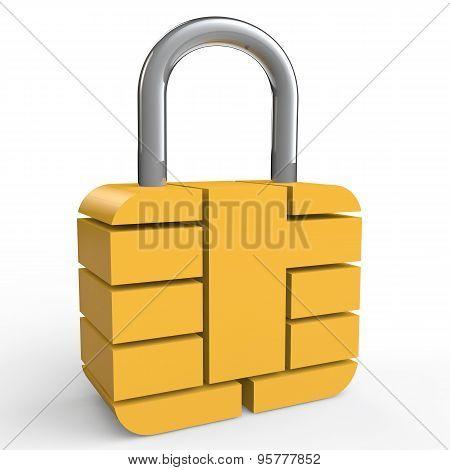 3d security chip lock