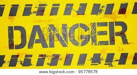 detailed illustration of a grungy Danger background, eps10 vector