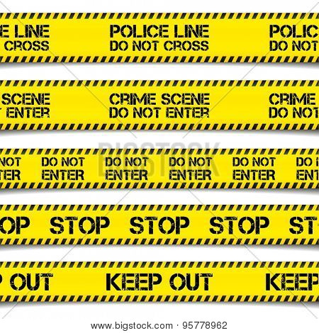 detailed illustration of Police Caution Tapes, eps10 vector