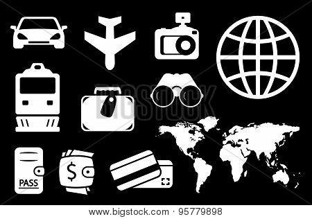 set travel white icon