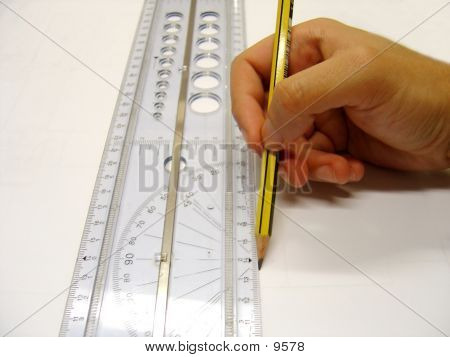 Architect/Designer Drawing A Straight Line