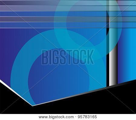 Abstract geometric blue flyer background